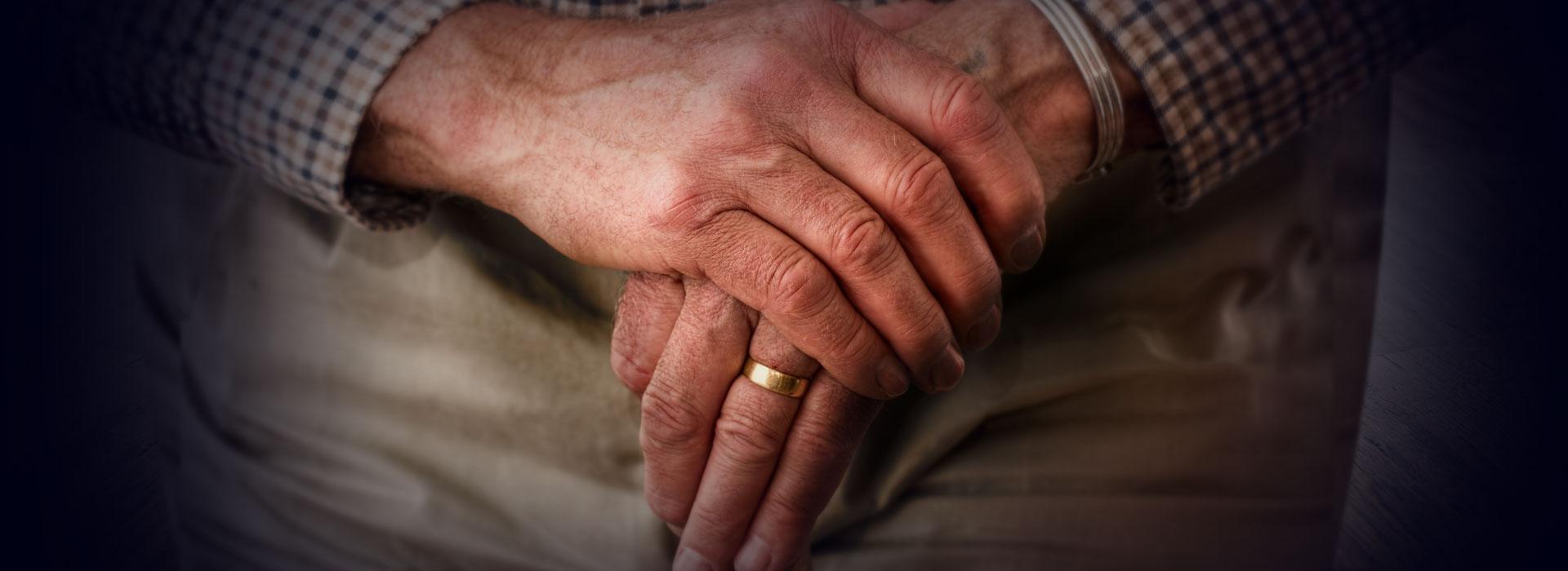 Rentner in Pflege